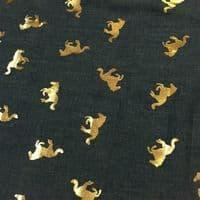 Luxury DENIM Foil PONY Fabric Material - LIGHT BLUE